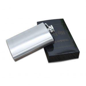 4oz Portable Hip Flask Stainless Steel Pocket Alcohol Whiskey Liquor Screw Cap Men's Gift Outdoor Liquor Jug Drinkware