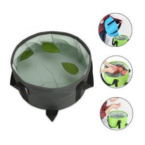 BUBM TJD Bärbar hopfällbar tvättställ Vattenbehållare Hink hopfällbar hink för campingresor och trädgårdsskötsel