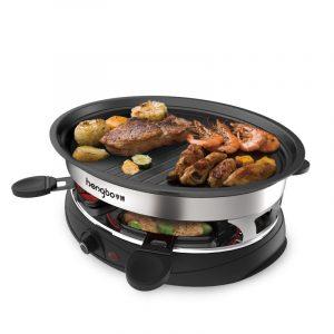 Hushållens multifunktionella elektriska ugnarBBQ-grill med grill med dubbla lager 4 grillrätter Icke-stick BBQ-pan Bakvarksspett grillmaskin