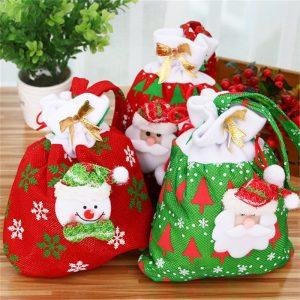 Julklappspåsar för godis Julklappspåsar Juldekoration Julgran