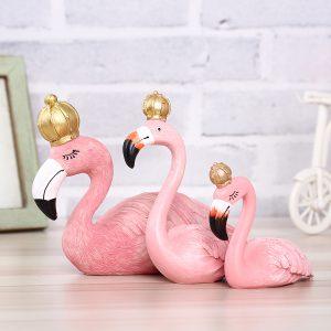 Resin Flamingo Ornament Garland Decorations Home Decor Wedding Gift