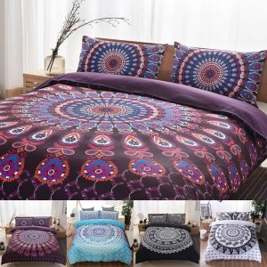 2Pcs/3Pcs 3D Bohemian Style Bedding Sets Comfort Breathable Bedclothes Duvet Cover Pillow Case Size Twin Queen King
