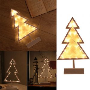 Christmas LED Frame Table Mini Night Light Desk Lamp Wedding Bedroom Christmas Decor Gifts