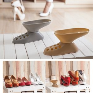 Cabinet Double Layer Storage Shoe Rack Foot Shaped Organizer Display Shoes Racks