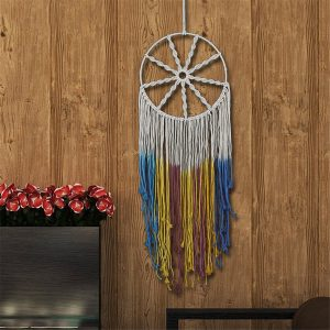 52 tums Macrame Wall Walling Handmade Dream Catcher Net Bohemian Ornament Decorations