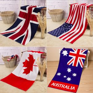 70x140 cm absorberande bomull australiensiska Kanada flagga strandhanddukar kreativa snabbtorkade handdukar