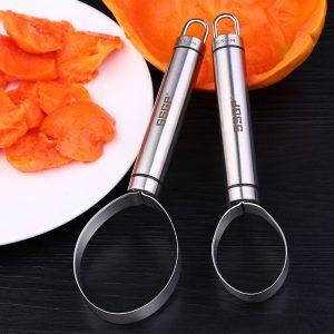 Rostfritt stål grönsaksskärare Fruktmelon Corer Frö Gravmassa Separator Skivskalare
