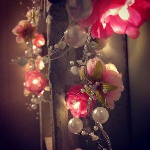 2M 20LEDs Creative DIY Christmas LED String Light Manual Small Silk Flower Fairy Night Light Decor