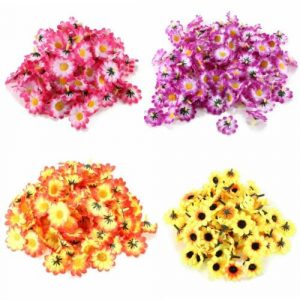 100Pcs Artificial Daisy Gerbera Heads Silk Flowers Wedding Birthday Party Decorations