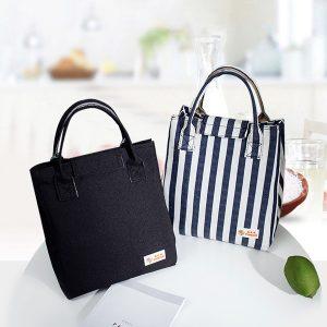 Honana CF-LB034 Woman Lady Fashion Oxford Insulated Cooler Large Capacity Lunch Tote Bag Handbag