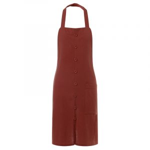 VONDA 8-24 Chef Chef Bakning Mode Kvinnor Strap Button Bib Bib Pinafore Förkläden