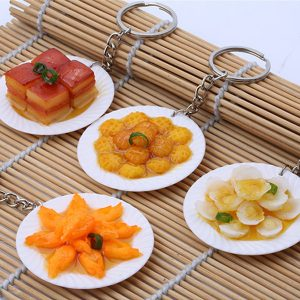 Simulation Delicious Chinese Food Model Fridge Magnet Key Chain Home Crafts
