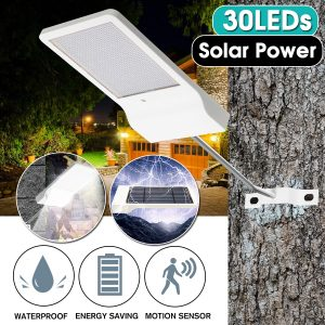 30 LED Solar Power Motion Sensor IP65 Waterproof Garden Yard Street Light Lamp Solar Garden Light
