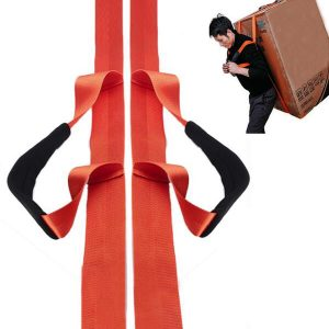 1 Person Furniture Lifting Moving Straps Carrying Belts Ergonomic Adjustable Length Appliances Lifting Straps Heavy Duty Carrying Harnesses for One Person