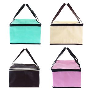 12 Inch Non-woven Fresh keeping Tote Bag with Zipper Cake Picnic Lunch Bag Reusable Grocery Bag