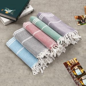 100x180cm Large Beach Turkish Towel Bath Towel Hammam Cotton Striped Washcloths
