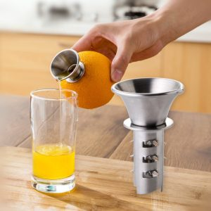 Honana KT-521 Stainless Steel Fruit Vegetable Tools Lemon Juicer Manually Squeezers Pourer Screw Press Orange Fruit Vegetable Juicer Tool