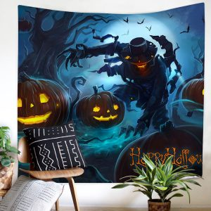 150x200cm Tapestry Mural Scary Halloween Curtains Polyester Fiber Beach Shawl Mandala Rectangle Bed Sheet Tapestry