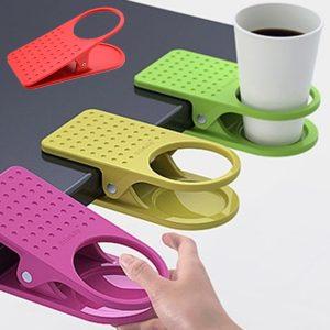 Honana Table Desk Cup Holder Clip Home Office Table Desk Side Huge Side Drink Clip Coffee Holder