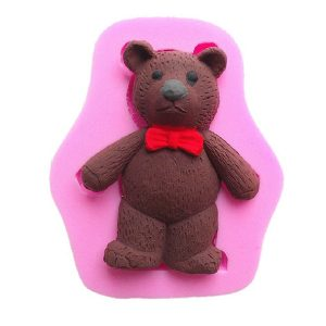 3D Teddy Bear Silicone Fondant Mold Chocolate Polymer Clay Mould