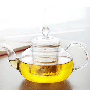 350ML-1000ML Heat Resistant Glass Teapot With Infuser Coffee Tea Leaf