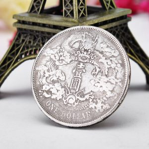 Ancient Chinese Dragon Coins Silver Dollar Coin Imitation Coins