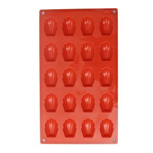 20 Cavity Silicone Shell Cake Pan Chocolate Mold Cookies Baking Mould