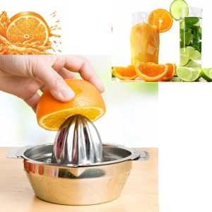 Rostfritt stål frukt citron kök Citrus Juicer Hand Press Squeezer Tool