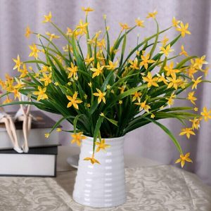 Artificial Lucky Star Flowers Bouquet Plants Wedding Bridal Party Home Decor 5 Colors