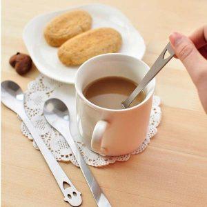 Rostfritt stål Smile Face Kaffesked Tesked Köksredskap