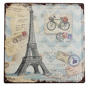 Eiffel Tower Tin Sign Vintage Metal Plaque Poster Bar Pub Home Wall Decor