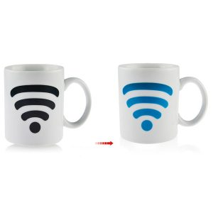 Ceramic WiFi Signal Mug Color Changing Cup Temperature Control Ceramic Cup