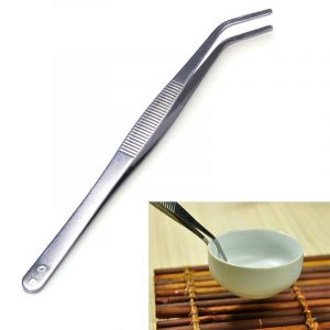 2pcs Stainless Steel Tea Tweezers Kungfu Tea Clamp Tool