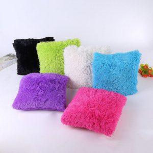 45 x 45cm Soft Plush Square Pillow Case Sofa Waist Throw Cushion Cover Home Decoration