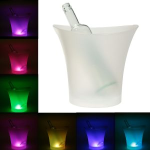 7 Colors LED Light Ice Bucket Champagne Wine Drinks Beer Ice Cooler Bar Party 5L