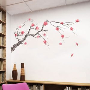 Miico FX64045 Plum Flower Wall Sticker Home Decorative Sticker DIY Sticker Living Room And Bedroom Decoration