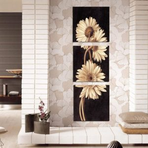 3Pcs Chrysanthemum Art Paintings Print Wall Pictures Home Decor Unframed