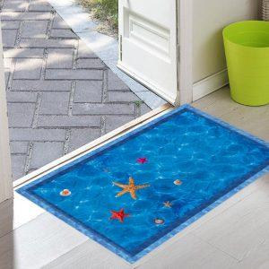 Miico FX82022 3D Starfish Shell Pool Stickers Summer Aquarium Toilet Door Decoration Wall Sticker