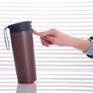 500ML kreativ vakuumisoleringskopp med magisk sugare Push Not Hälla rostfritt stål vattenflaska