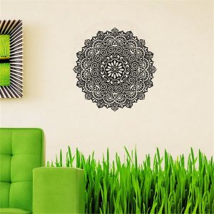 59X59CM avtagbara Mandala Flower Wall Stickers Vinyl Mandala Pattern PVC Wall Stickers