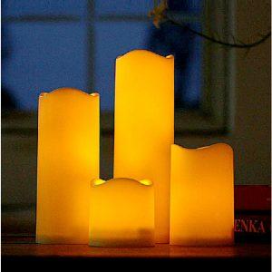 Mrosaa Flameless LED Tealight Candle Night Lamp Glim för bröllop födelsedagsfest Jul heminredning Ljus Batteridrift