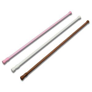 60-110cm Extendable Adjustable Spring Tension Curtain Rod Pole Telescopic Pole Shower Curtain Rod