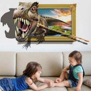 3D Dinosaur Wall Stickers Home Decor Mural Art Removable Wall Decals