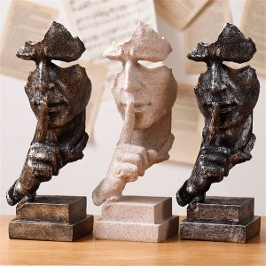 Modern Resin Figure Statue Abstract Sculpture Craft Art Ornaments Home Office Decorations