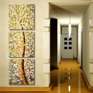 3Pcs Modern Art Life Tree Oil Print Paintings Picture Decor