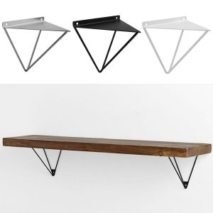 2PCS Durable Wall Mount Multi-Use Shelf Heavy Duty Metal Support Bracket Prism Furniture Bracket