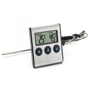 Honana Electric Digital Food BBQ Barbecue Thermometer Timer for Kitchen Baking Cooking