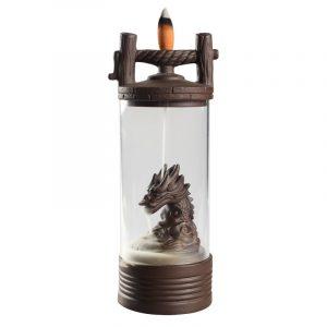 Dragon Backflow rökelse brännare lyckligt glas täcke tearoom ornament keramiska hantverk heminredning rökelse spis bröllop present