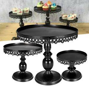 3-bitars revolverande kakestativ Cupcake Desserthållare Födelsedagsbröllopsfestvisning