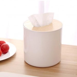 Desktop Oak Tissue Box Creative Living Room Paper Towel Box Car Paper Storage Box Simple Stylish Home Kitchen Dining Table Tool